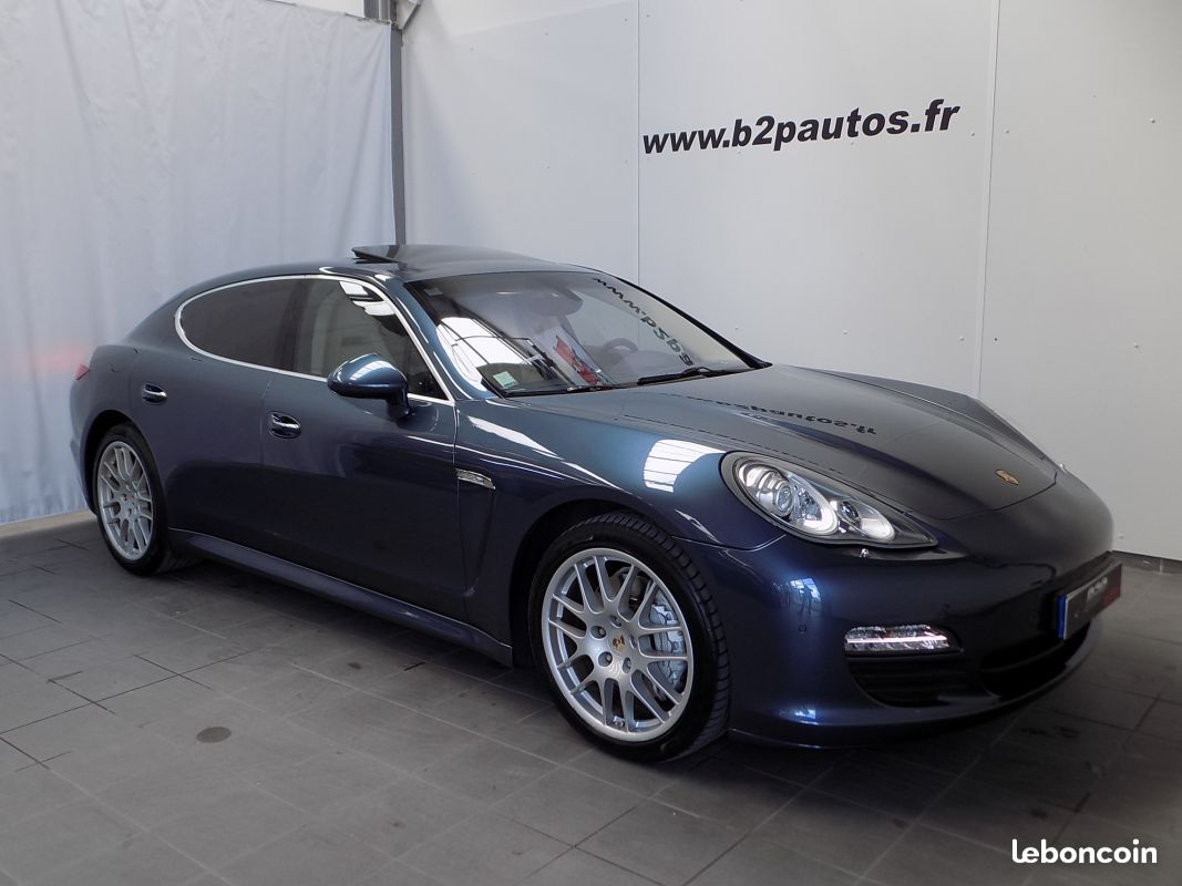 photo vehicule vendu - PORSCHE PANAMERA S 4.8 L V8 400CV 2010 bleu TO