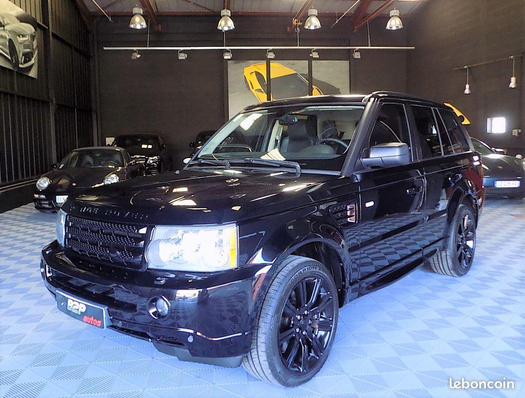 photo voiture land_rover Range rover sport supercharged 4.2 l v8 390 cv full black